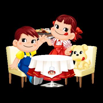 enish、レストラン経営ゲーム「ぼくのレストランⅡ」にて不二家の「ペコちゃん」とコラボ