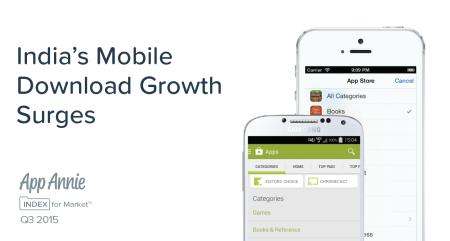 App Annie、「アプリ市場動向レポート:App Annie Index 2015年第3四半期」を発表