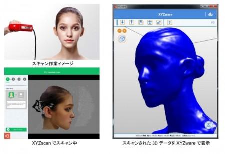 XYZプリンティングジャパン、片手で手軽に3Dスキャンできる「XYZprinting ハンドヘルド3Dスキャナー」を発表