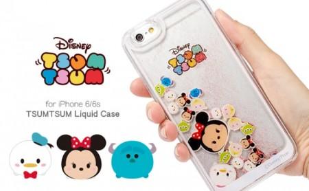 まるでスノードーム Hamee、「ディズニー ツムツム」のキャラがゆらゆら動くiPhoneケースを発売