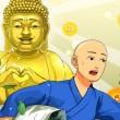 隙間時間に徳積み体験や仏像彫り体験が可能 ジー・モード、スマホ向け出家ゲーム「出家なう。~金色(きんいろ)のおっさんと仏の秘め事~」をリリース