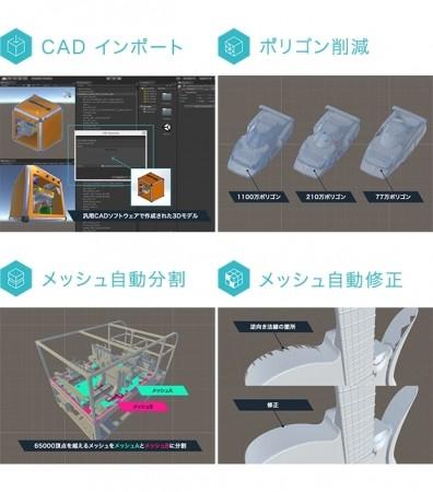 Unity Japan、CADで制作された3DモデルをUnityへ取り込むためのプラグイン「Unity CAD Importer」のα版をリリース