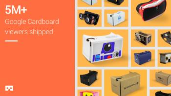 Google、ダンボール製簡易VRゴーグル「Google Cardboard」を500万個以上出荷