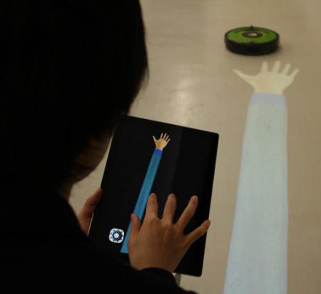 大阪大学研究グループ、「タッチで操作する投影型マジックハンド」の 開発に成功