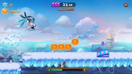スマホ向けランニングアドベンチャーゲーム「LINE ウィンドランナー」、「SNOW MIKU 2016」とのコラボを実施