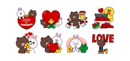 LINE、「熊本地震 被災地支援スタンプ」を販売開始 売り上げ全額を赤十字に寄付