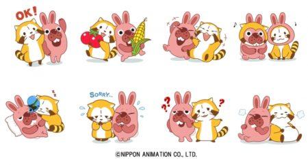 スマホ向けパズルゲーム「LINE ポコポコ」、アニメ「世界名作劇場」の「あらいぐまラスカル」とコラボ