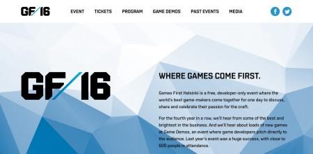 5/10にフィンランドにてゲーム開発者向け無料カンファレンスイベント「Games First Helsinki 2015」が開催