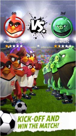 鳥と豚がサッカーで対決! Rovio、映画「アングリーバード」デザインのサッカーゲーム「Angry Birds Goal!」のテスト配信を開始