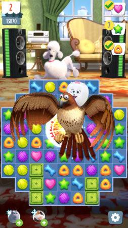 EA、映画「ペット」のスマホ向けパズルゲーム「ペット わんにゃんラッシュ」をリリース