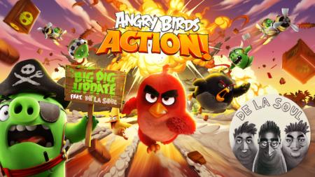 Rovio、Angry Birdsシリーズ最新作「Angry Birds Action!」にてHip HopグループのDe La Soulとコラボ