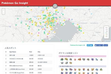 ナイトレイ、独自のロケーションデータ解析技術を活用した「Pokémon GO」マップ「Pokémon Go Insight」を公開