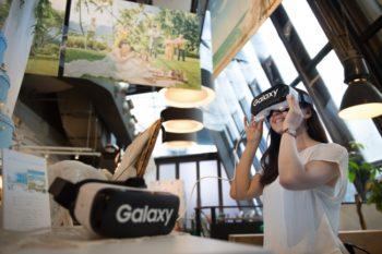 サムスン、Gear VRで渋谷にいながらハワイウェディングを疑似体験できるVRコーナーを「リゾ婚Cafe」にて展示