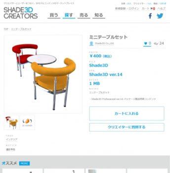 マリエッタ、3Dデータの新たなマーケット「SHADE3D CREATORS」を提供開始