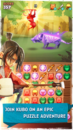 ストップモーションアニメ映画「Kubo and the Two Strings」のスマホゲーム「Kubo: A Samurai Quest」がリリース