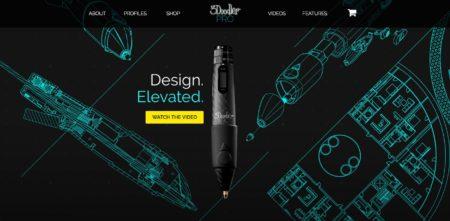 3Dプリンティングペン「3Doodler」にプロ仕様版が登場 プラスチック樹脂以外のフィラメントにも対応