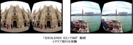 三越伊勢丹、店頭デジタルプロモーションにワイヤレスVRヘッドマウントディスプレイ「IDEALENS K2」を活用