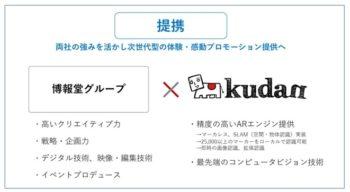 Kudan、AR・VRの専門ファクトリー「hakuhodo-VRAR」の設立に伴い博報堂グループと提携