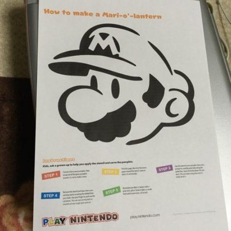 【ハロウィン特別企画】Nintendo of Americaが配布しているマリオの型紙データを使って実際にカボチャランタンを作ってみた