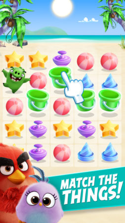 ROvio、映画「アングリーバード」デザインのスマホ向けパズルゲーム「Angry Birds Match」をテスト配信