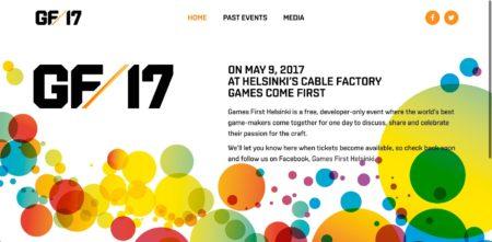 5/9、フィンランド・ヘルシンキにてゲーム開発者向け無料カンファレンスイベント「Games First Helsinki 2017」が開催
