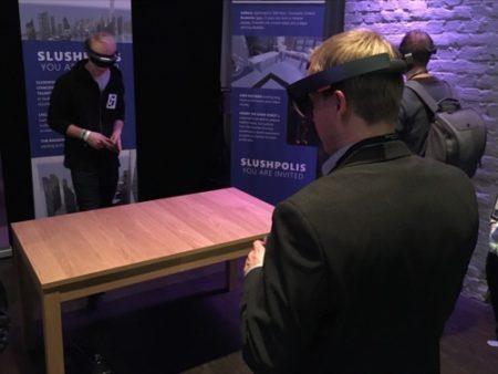 【Slush 16レポート】Slush 16のプレス向けパーティでNokiaのVRカメラ「OZO」とMicrosoftのMRヘッドマウントディスプレイ「HoloLens」を見てきた