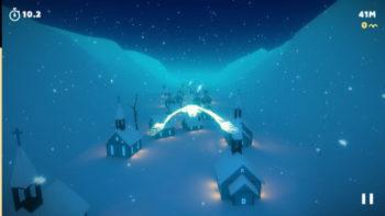 【やってみた】美しい雪景色の中を飛び回る美麗エンドレスランゲーム「White Trip」