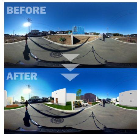ラストマイルワークス、360°カメラを利用した実写×CG合成サービスを提供開始