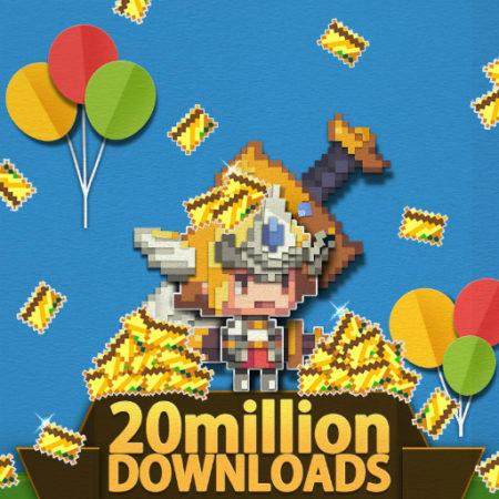 スマホ向けピクセルアートアクションRPG「クルセイダークエスト」、世界累計2000万ダウンロードを突破