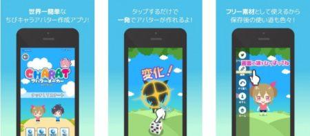 LIBRE、Android向けアバターアプリ「CHARATアバターメーカーLite」をリリース