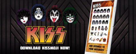 米ロックバンドのKISS、スマホ向けスタンプ「KISSmoji」をリリース