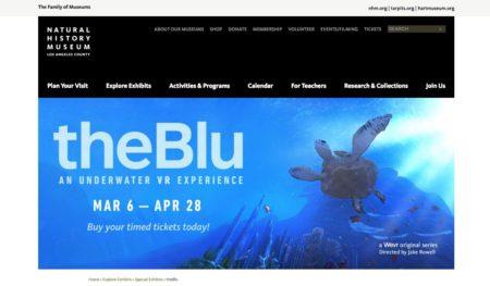 海中散策できるVR コンテンツ「theBlu」、ロサンゼルスの自然史博物館で特別展示