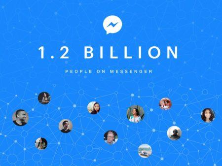 Facebookメッセンジャー、月間アクティブユーザー数が10億人を突破