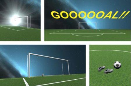 アイデアクラウド、VR空間上でサッカーボールを蹴れるコンテンツ「EXTREME FOOTBALL」を開発