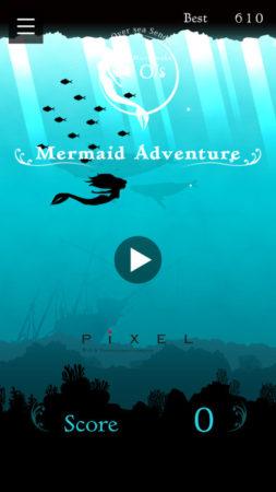 美容室とコラボしたiOS向けタップアクションゲーム「O/S Mermaid Adventure」がリリース