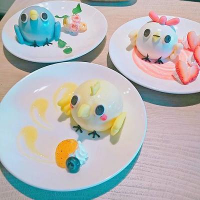 人気LINEスタンプ「めんトリ」と台湾の人気キャラ「BYEBYECHUCHU」のコラボカフェが台北にオープン