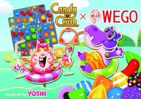 人気パズルゲーム「キャンディークラッシュ」、5周年を記念しアパレルブランド「WEGO」とコラボ