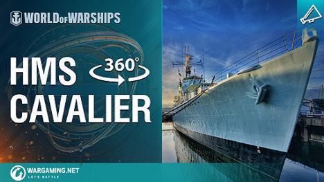 Wargaming、駆逐艦HMSキャヴァリアの艦内を360度見渡せるVRプロジェクトを公開