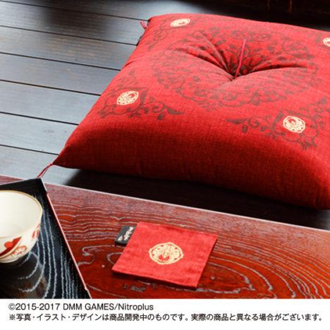 プレミアムバンダイ、「刀剣乱舞」京都老舗コラボの京座布団の予約受付を開始