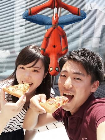 「ピザハット」×映画「スパイダーマン:ホームカミング」、ARアプリ「ARAPPLI」を使用したコラボ企画を実施