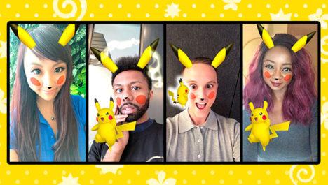 Snapchat、期間限定でピカチュウに変身できるレンズを提供