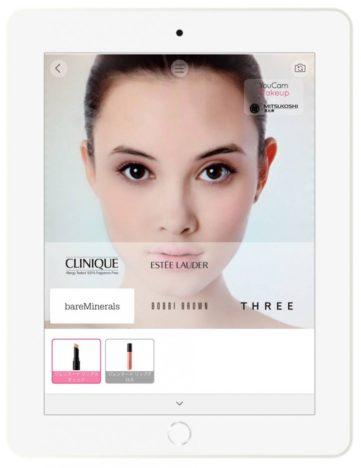 恵比寿三越、化粧品のカウンセリングツールとしてARメイクアプリ「YouCam メイク」を導入