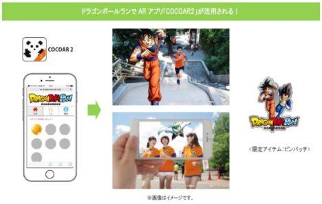 ドラゴンボールのファンランイベント「ドラゴンボールラン」、ARアプリ「COCOAR2」を使った企画を実施