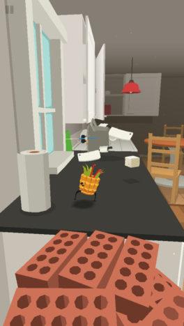 """【やってみた】食べ物がキッチンや居間で大冒険! ありふれた日常が舞台の""""ウォーキング""""アクションゲーム「SILLY WALKS」"""