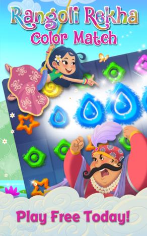 Zynga、インド市場向けのスマホ向けパズルゲーム「Rangoli Rekha:Color Match」をテスト配信