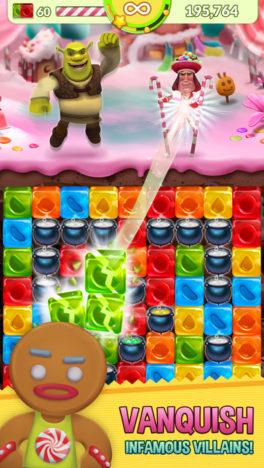 スペインのGenera Mobile、映画「シュレック」のスマホ向けパズルゲーム「Shrek Sugar Fever」をリリース