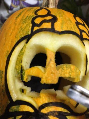 【ハロウィン特別企画】「なめこの巣」のハロウィンイベントキャラ「ジャック」のカボチャランタンを作ってみた