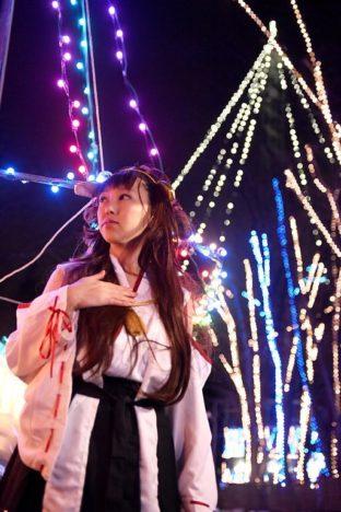 2018年1月、秋田県横手市平鹿町にてコスプレイベント「ひらかコスプレイベントⅢ ホワイトガーデン」開催 イルミネーションとの特別撮影も可能