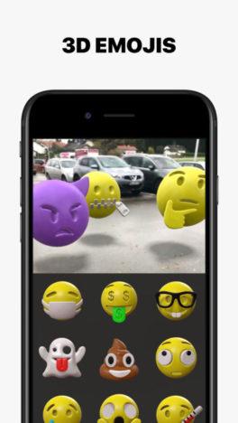 3D絵文字やテキストをAR表示できるiOS向けARアプリ「HoloCam」がリリース