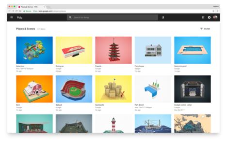 Google、AR/VRコンテンツとしても使用できる3DCG作品の投稿プラットフォーム「Poly」を公開